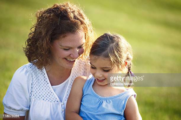Aunt and niece laughing together