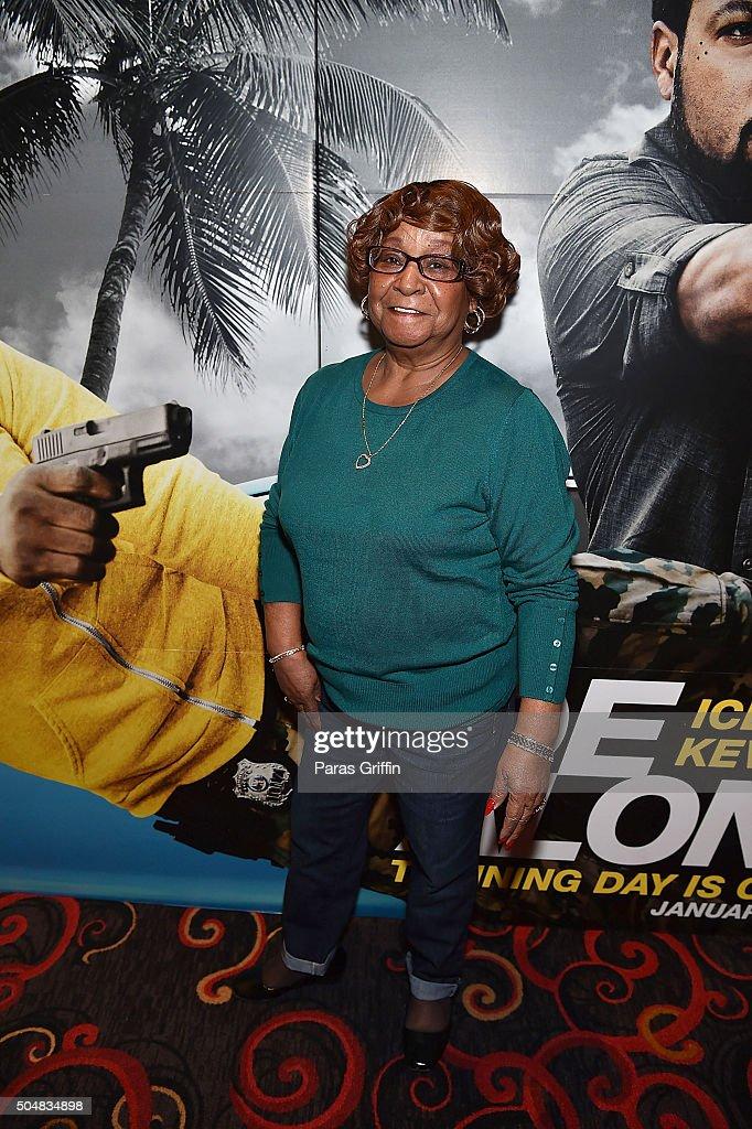Aunt Bertha attends 'Ride Along 2' Advance Screening at Regal Cinemas Atlantic Station on January 13 2016 in Atlanta Georgia
