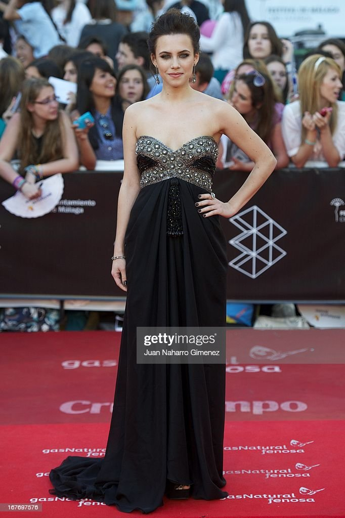 Aura Garrido attends 16 Malaga Film Festival ceremony at Teatro Cervantes on April 27, 2013 in Malaga, Spain.