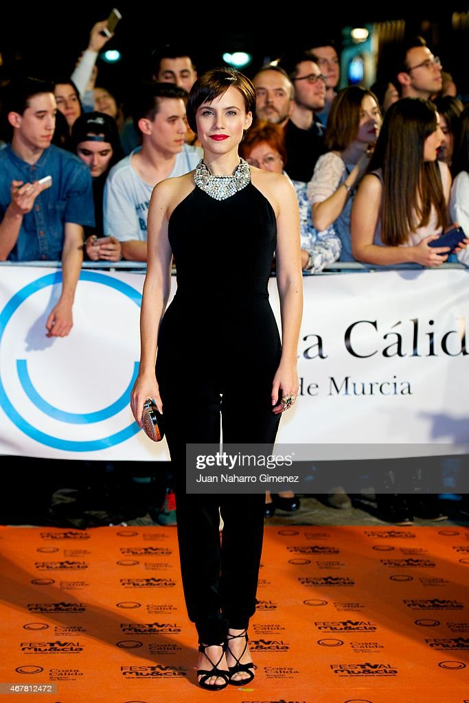 Aura Garrido attends closing ceremony of the FesTVal Murcia 2015 at Julian Romea theater on March 27 2015 in Murcia Spain