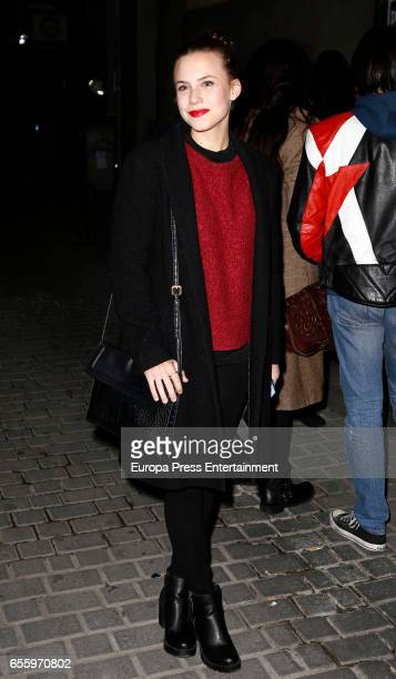 Aura Garrido attends 'El Amante' press night at Pavon Kamikaze Theatre on March 16 2017 in Madrid Spain