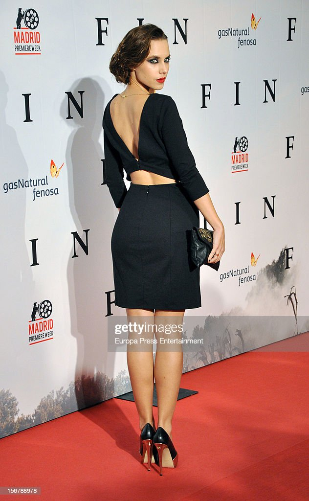 Aura Garrido attends 'Fin' premiere on November 20, 2012 in Madrid, Spain.