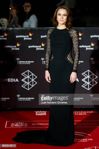 Aura Garrido attends the 'Amar' premiere during the 20th Malaga Film Festival 2017 Day 3 at the Cervantes Theater on March 19 2017 in Malaga Spain