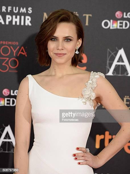 Aura Garrido attends the Goya Cinema Awards 2016 Ceremony at Madrid Marriott Auditorium on February 6 2016 in Madrid Spain