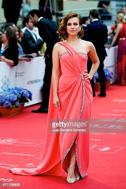 Aura Garrido attends the 'Solo Quimica' premiere during the 18th Malaga Spanish Film Festival at the Cervantes Theater on April 25 2015 in Malaga...