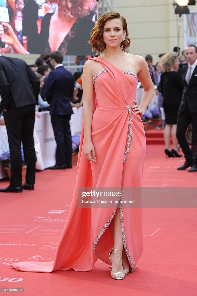 Aura Garrido is seen during the closing day of Malaga Film Festival on April 25 2015 in Malaga Spain