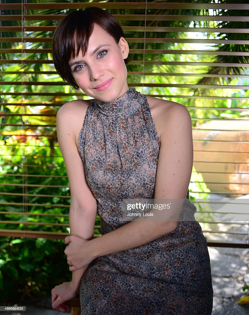 Aura Garrido poses during the 2015 Miami Dade College's Miami International Film Festival at The Standard Hotel Spa on March 9 2015 in Miami Beach...