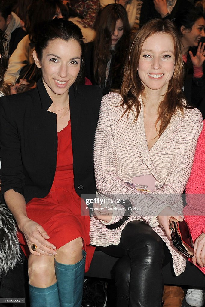Aure Atika and Lea Drucker attend the Sonia Rykiel Ready To Wear show, as part of the Paris Fashion Week Fall/Winter 2010-2011.
