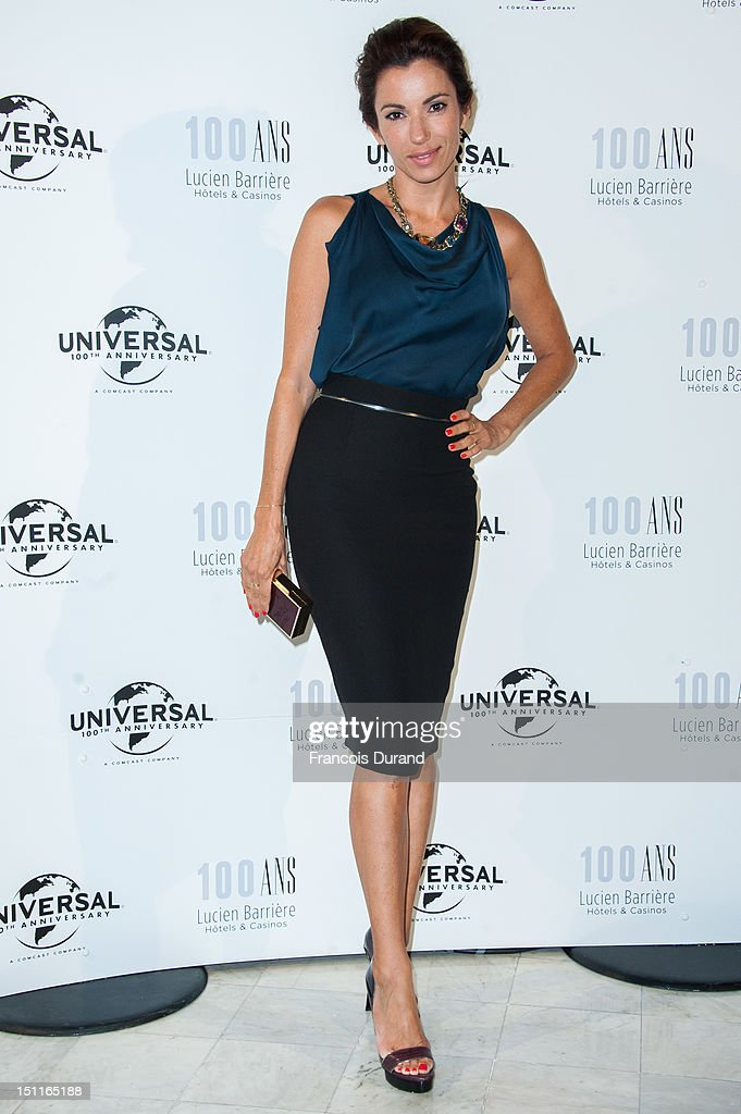 Aure Atika attends the 100th anniversary of Universal and Lucien Barriere at Royal Barriere hotel during the 38th Deauville American Film Festival on September 1, 2012 in Deauville, France.