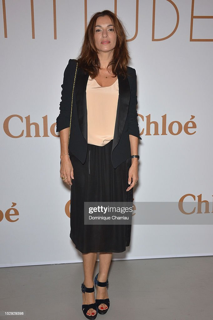 Aure Atika attends The Chloe 60th Anniversary Celebration at Palais De Tokyo on September 28, 2012 in Paris, France.