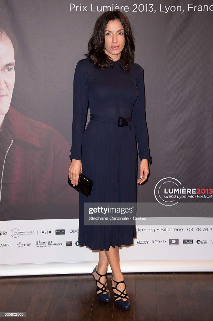 Aure Atika attends the Tribute to Quentin Tarantino, during the 5th Lumiere Film Festival, in Lyon.