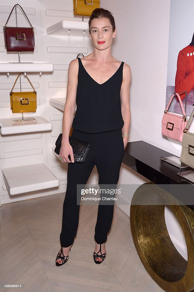 <a gi-track='captionPersonalityLinkClicked' href=/galleries/search?phrase=Aurelie+Dupont&family=editorial&specificpeople=2903830 ng-click='$event.stopPropagation()'>Aurelie Dupont</a> attends Roger Vivier Cocktail Event Honouring Ambra Medda as part of Paris Fashion Week Womenswear Spring/Summer 2015 in the Rue Saint Honore Boutique on September 30, 2014 in Paris, France.