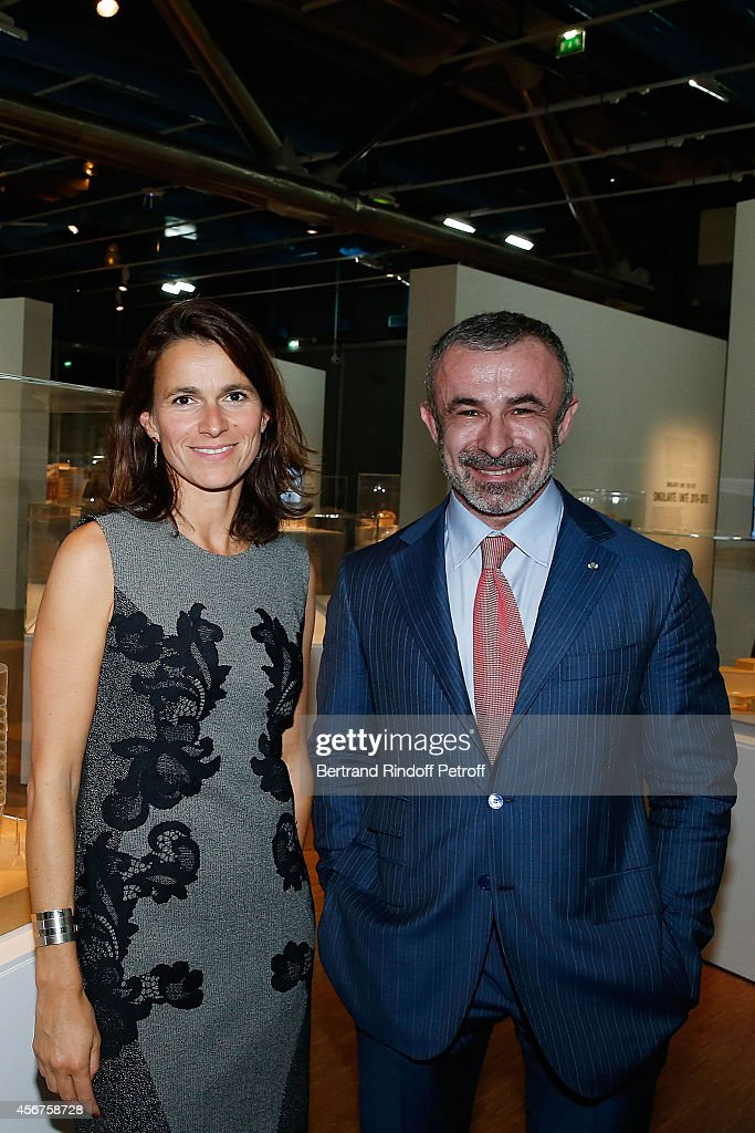 Aurelie Filippetti and Director of Centre Pompidou, <a gi-track='captionPersonalityLinkClicked' href=/galleries/search?phrase=Alain+Seban&family=editorial&specificpeople=4515859 ng-click='$event.stopPropagation()'>Alain Seban</a> attend the Frank Gehry's Exhibition in Centre Pompidou on October 6, 2014 in Paris, France.