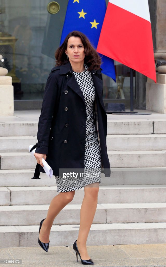 Aurelie Filippetti, Minister of Culture and Communication leaves after a cabinet meeting at the Elysee Palace on July 9, 2014 in Paris, France.