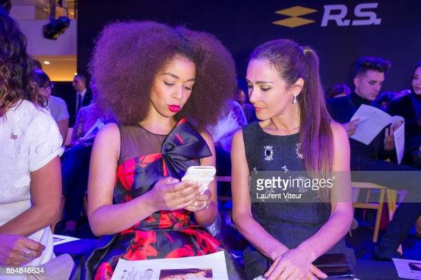 Aurelie Konate and Emmanuelle Boidron attend the Christophe Guillarme show as part of the Paris Fashion Week Womenswear Spring/Summer 2018 on...