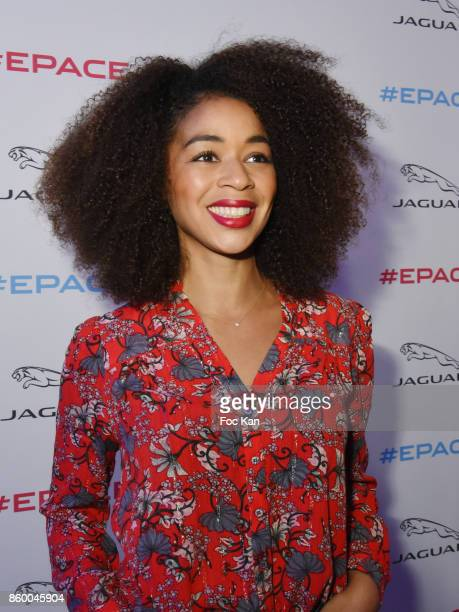 Aurelie Konate attends Jaguar EPace Launch Party at Studio Acacias on October 10 2017 in Paris France