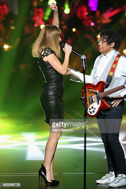 Aurelie Saada from Brigitte and Laurent Voulzy perform during the 30th 'Victoires de la Musique' French Music Awards Ceremony at le Zenith on...