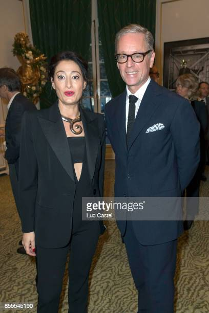 Aurelie Samuel and Madison Cox attend the Opening Party at Yves Saint Laurent Museum as part of the Paris Fashion Week Womenswear Spring/Summer 2018...