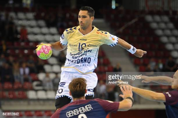 Aurelien Abily of Saint Raphael during the semi final match of the Handball Champions Trophy between Paris Saint Germain and Saint Raphael on...