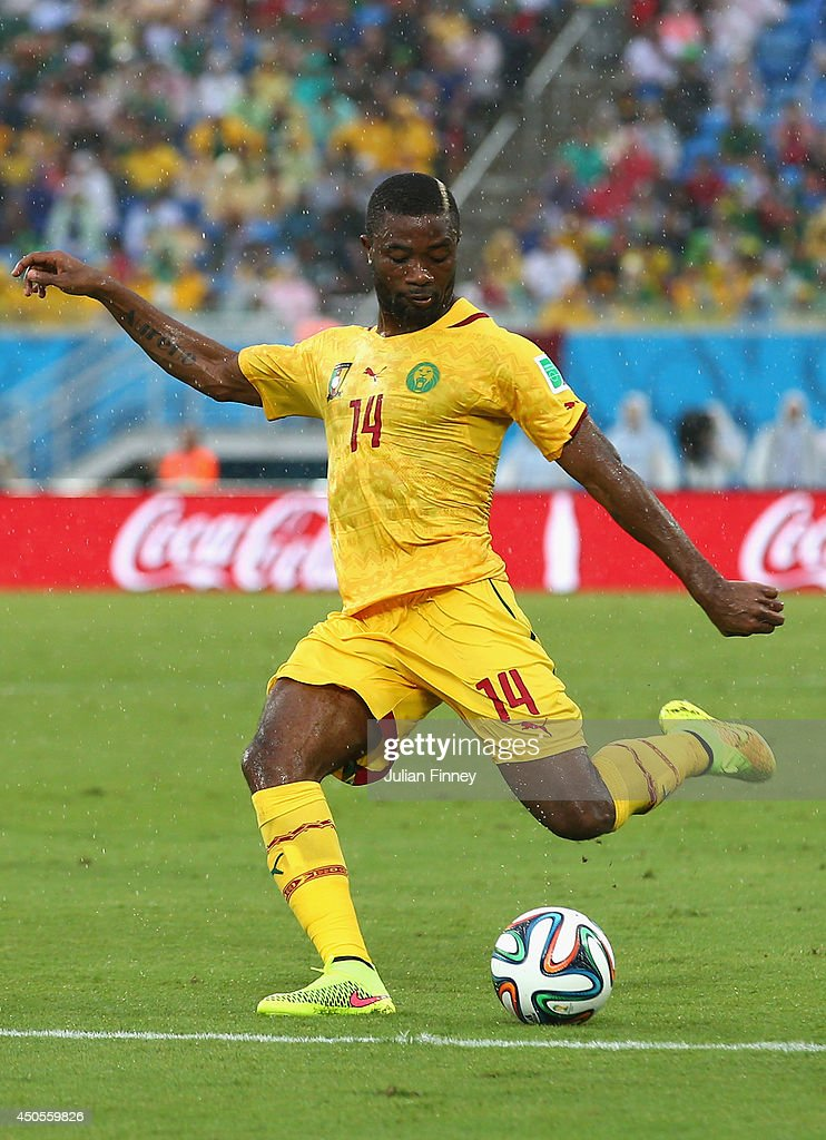 Aurelien Chedjou of Cameroon controls the ball during the 2014 FIFA World Cup Brazil Group A match between Mexico and Cameroon at Estadio das Dunas on June 13, 2014 in Natal, Brazil.