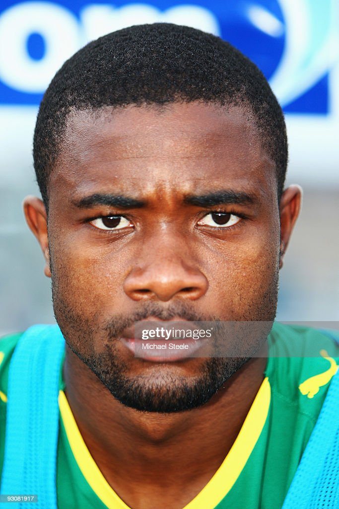 <a gi-track='captionPersonalityLinkClicked' href=/galleries/search?phrase=Aurelien+Chedjou&family=editorial&specificpeople=4520971 ng-click='$event.stopPropagation()'>Aurelien Chedjou</a> of Cameroon during the Morocco v Cameroon FIFA2010 World Cup Group A qualifying match at the Complexe Sportif on November 14, 2009 in Fes, Morocco.