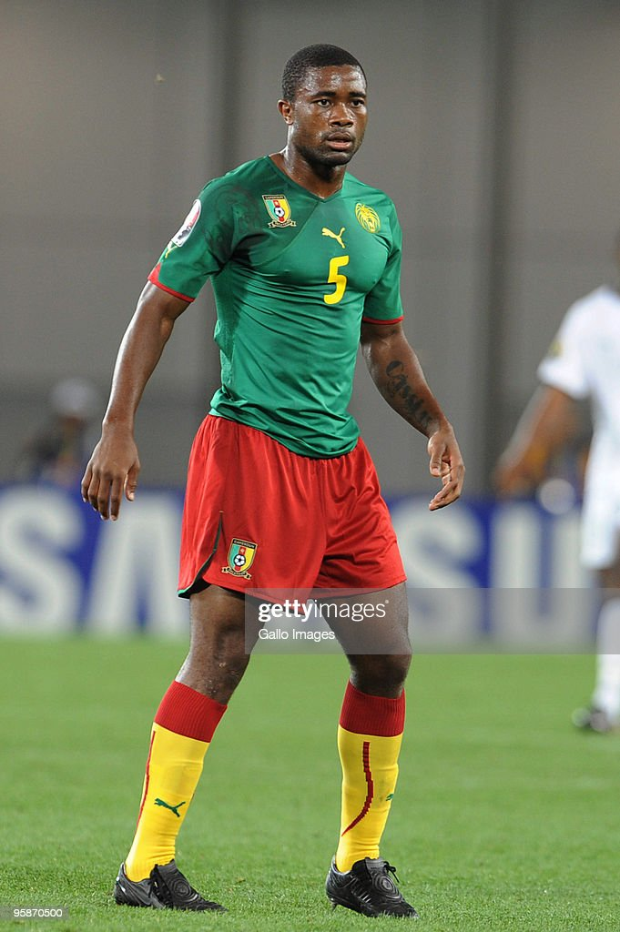 Aurelien Chedjou of Cameroon looks on during the African Nations Cup group D match between Cameroon and Zambia at the Tundavala National Stadium on January 17, 2010 in Lubango, Angola.