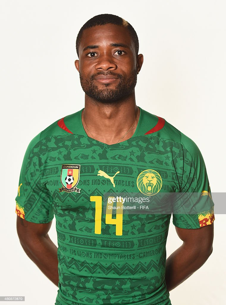 <a gi-track='captionPersonalityLinkClicked' href=/galleries/search?phrase=Aurelien+Chedjou&family=editorial&specificpeople=4520971 ng-click='$event.stopPropagation()'>Aurelien Chedjou</a> of Cameroon poses during the official FIFA World Cup 2014 portrait session on June 9, 2014 in Vitoria, Brazil.