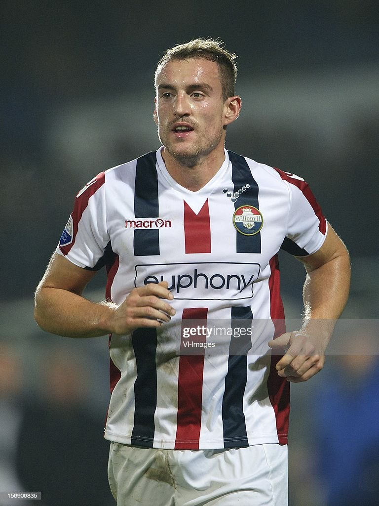 Aurelien Joachim of Willem II during the Dutch Eredivisie match between Willem II and Heracles Almelo at the Koning Willem II Stadium on November 24, 2012 in Tilburg, The Netherlands.