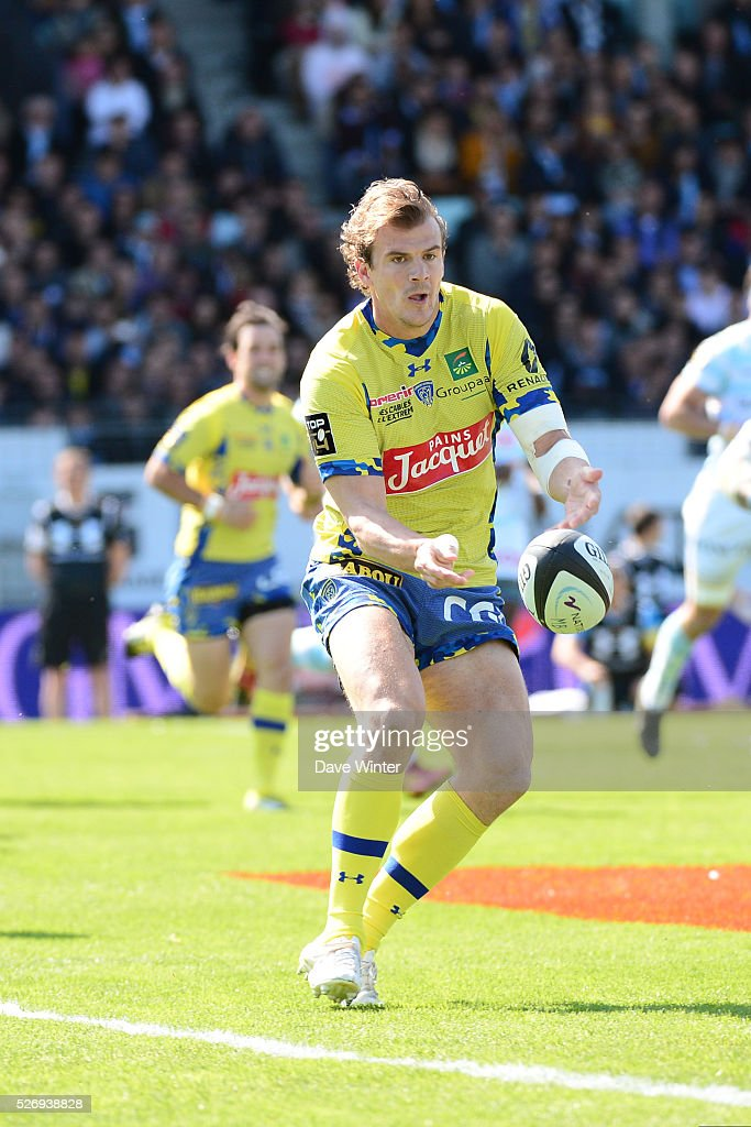 Aurelien Rougerie of Clermont during the French Top 14 rugby union match between Racing 92 v Clermont at Stade Yves Du Manoir on May 1, 2016 in Colombes, France.