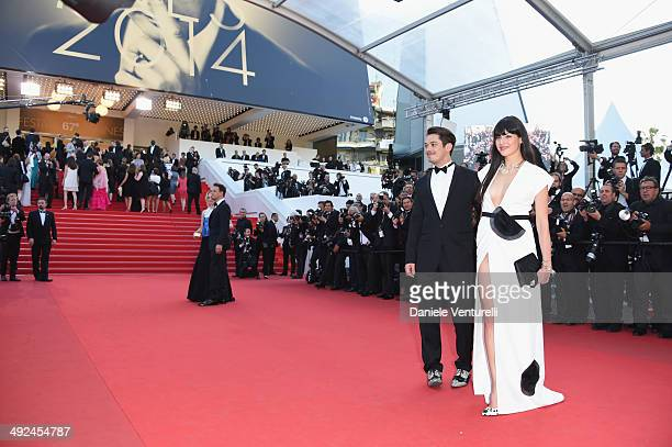 Aurelien Wiik and guest attend the 'Two Days One Night' premiere during the 67th Annual Cannes Film Festival on May 20 2014 in Cannes France
