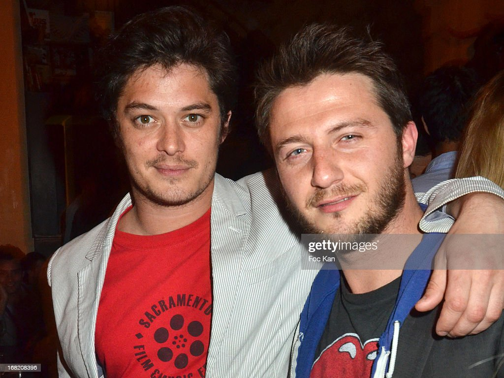 Aurelien Wiik and Sergio Do Vale attend the 'Speakeasy' Party At The Lefty Bar Restaurant on May 6, 2013 in Paris, France.