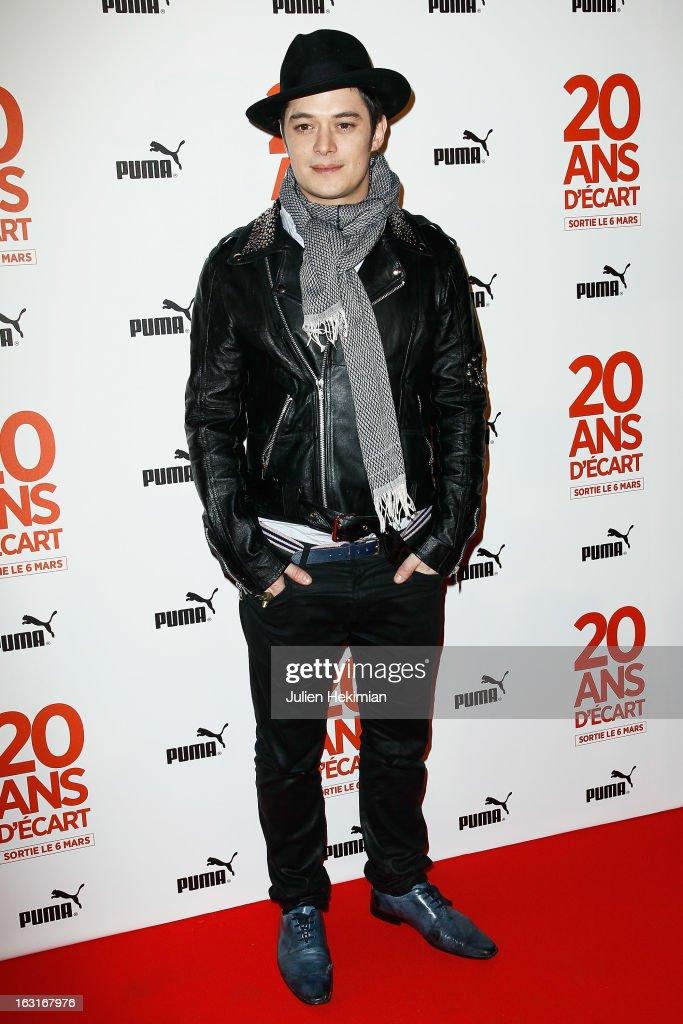 Aurelien Wiik attends '20 Ans D'Ecart' Premiere at Gaumont Capucines on March 5, 2013 in Paris, France.