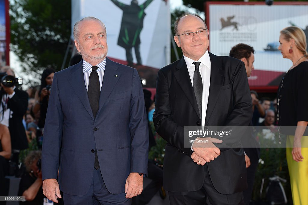 Aurelio De Laurentiis and Carlo Verdone attend the Closing Ceremony during the 70th Venice International Film Festival at the Palazzo del Cinema on September 7, 2013 in Venice, Italy.