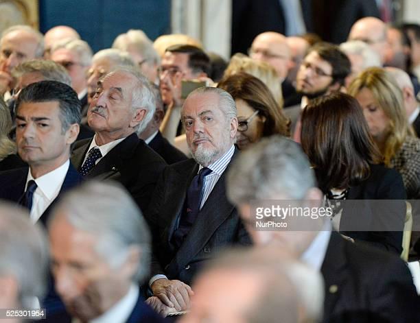 Aurelio De Laurentiis during celebration quotItalian Quality' at Quirinale Rome on March 07 2016