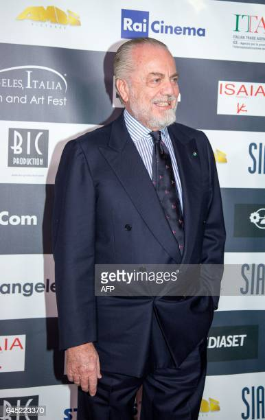 Aurelio De Laurentiis on the red carpet at finale of the 12th Los Angeles Italia Film Festival on Friday February 24 2017 in Los Angeles California /...