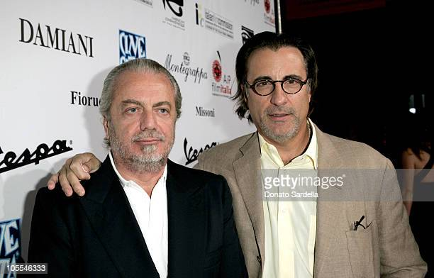 Aurelio De Laurentiis producer and Andy Garica during Cinema Italian Style Film Festival at Egyptian Theatre in Los Angeles CA United States