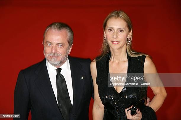 Aurelio De Laurentiis with his Wife to Rome's Auditorium to attend 'Fur an imaginary portrait of Diane Arbus' premiere during 1st Rome Film Festival