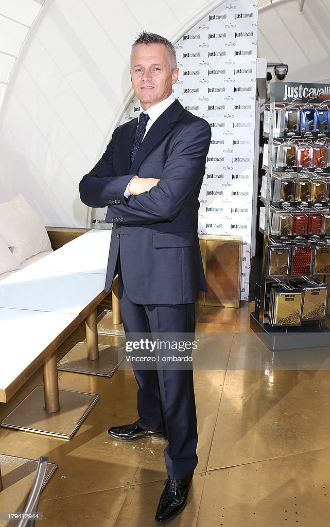 Aurelio Goldoni attends the Puro and Just Cavalli event to unveil the new smartphone covers collection on September 3, 2013 in Milan, Italy.