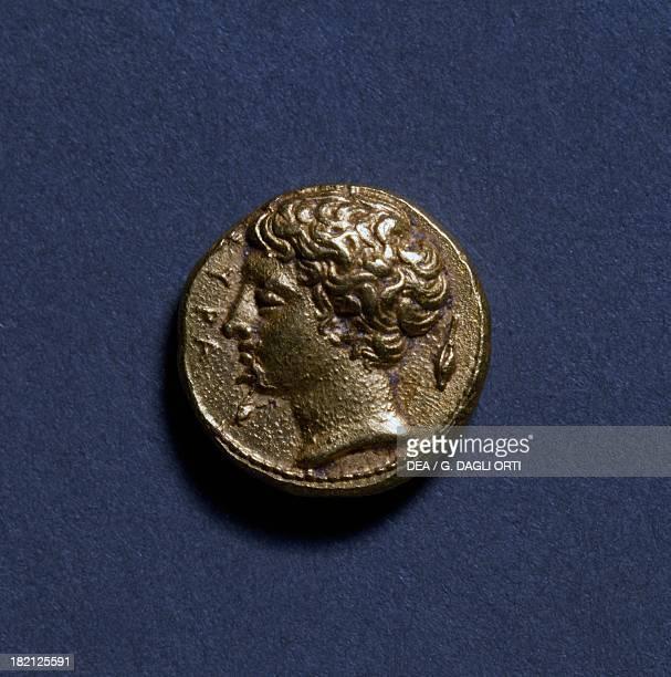 Aureus from Syracuse depicting Artemis Ancient Greek coins 5th century BC