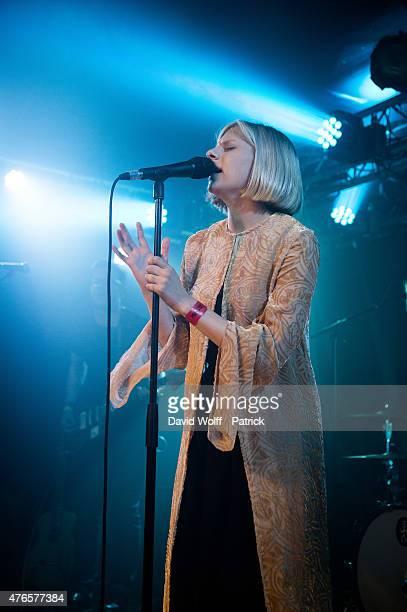 Aurora Aksnes from Aurora performs at La Boule Noire on June 10 2015 in Paris France