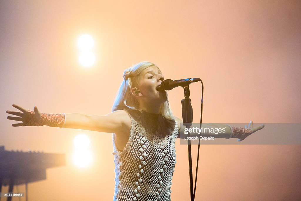 Aurora Aksnes of Aurora performs on Day 6 at the Sziget Festival 2016 on August 16 2016 in Budapest Hungary