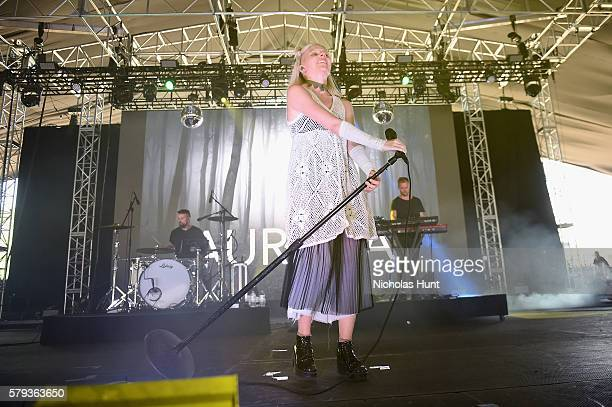 Aurora Aksnes of Aurora performs onstage at the 2016 Panorama NYC Festival Day 2 at Randall's Island on July 23 2016 in New York City