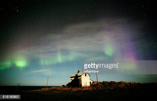 Aurora Borealis, derelict building