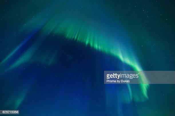 Aurora Borealis Europe fjord autumn phenomenon Lapland light night northern lights Norway polar light Scandinavia Vestertana
