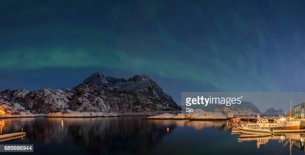 Aurora Borealis, Northern Light or Polar light in night sky over Northern Norway