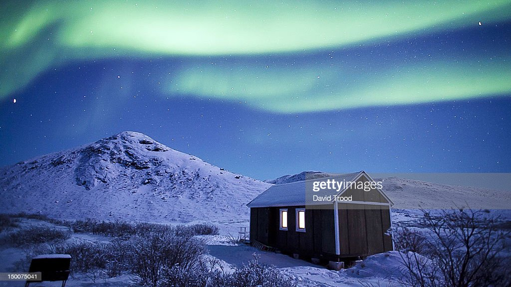 Aurora Borealis - Northern lights in Greenland : Stock Photo
