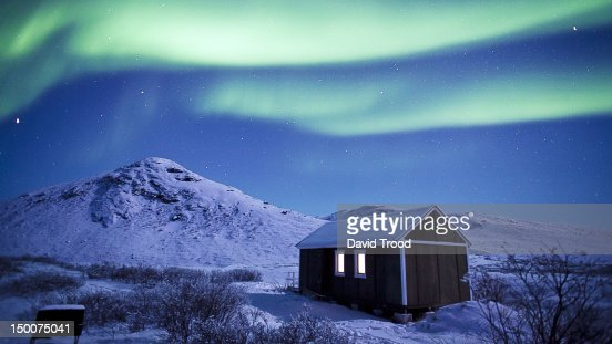 Aurora Borealis - Northern lights in Greenland : Bildbanksbilder