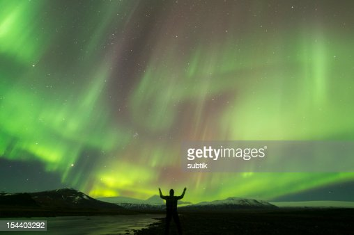 aurora borealis on iceland : Foto stock