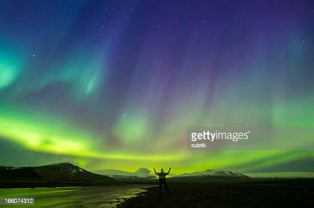 Aurore boréale sur l'Islande