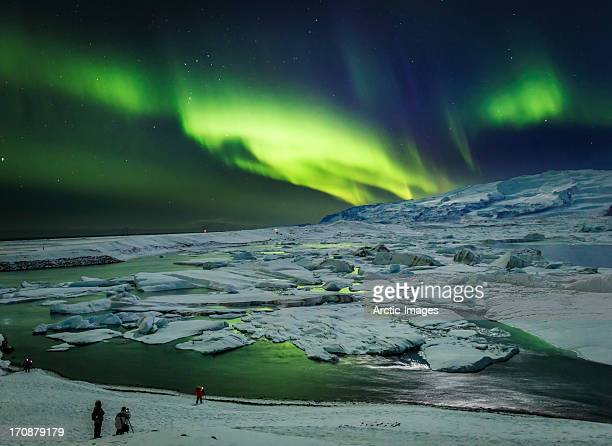 Aurora Borealis or Northern Lights, Jokulsarlon